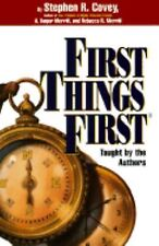 """FIRST THINGS FIRST""  AUDIOBOOK (FOUR CASSETTES) STEPHEN R. COVEY"
