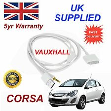 Vauxhall Corsa Series 3GS 4 4S iPhone iPod USB & Aux Audio Cable White