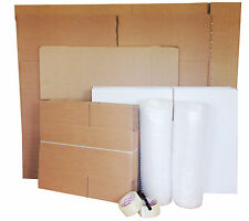 """XX-LARGE House Moving Removal Pack 53 Cardboard Boxes inc. 36"""" LCD TV Box"""
