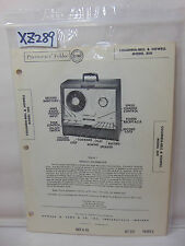 SAMS PHOTOFACT FOLDER MANUAL & SCHEMATIC REEL RECORDER COLUMBIA BELL HOWELL 350