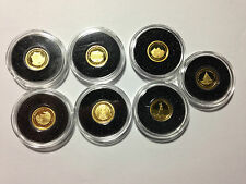 Solomon Islands 2011 5 Dollars Gold Proof Set - The Ancient 7 Wonders