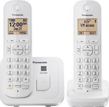 New Panasonic KX-TGC212W Dect 6.0 Cordless Phone 2 Handsets
