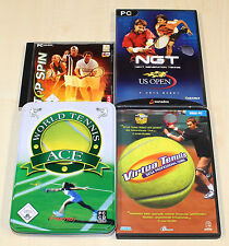 4 PC SPIELE SAMMLUNG TOP SPIN NGT VIRTUA TENNIS WORLD TENNIS ACE -------- (4 14)