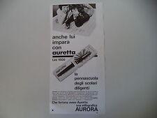 advertising Pubblicità 1972 PENNA AURORA AURETTA