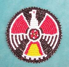 """""""BLACK EAGLE"""" INDIO AMERICANO CON CUENTAS ROSETA 7.6cm"""