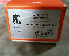 HOn3 West Side Lumber PSC  Brass Ballast Cars (3)