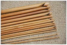 Bamboo Handle 12 Size Crochet Hook Knitting Needle Set Craft Knit Weave Yarn 6""