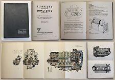 Junkers Flugmotor Jumo 210 D Baureihe 1 Betriebsanweisung & Wartung 1938 - xz