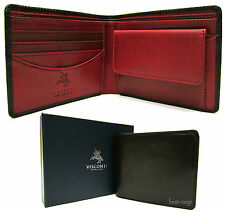 Mens Wallet Real Leather Black/Red New in Gift Box Visconti (TR30)