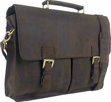 "UNICORN Real Leather 16.4"" Laptop Netbook Ultrabook Messenger Bag - Brown #4F"