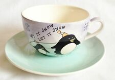 Whittard Let It Snow Breakfast Cup and Saucer - Winter Wonderland Collection