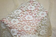 White Floral Stretch Lace #9 Nylon Lycra Spandex Apparel Fabric BTY