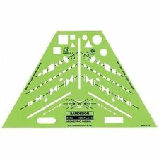 Rapidesign ISOMETRIC PIPING Design Template Stencil Made in USA R43