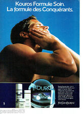 PUBLICITE ADVERTISING 056  1987  Yves Saint Laurent Formule soins homme Kouros