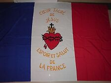 DRAPEAU Sacré Coeur  FRANCAIS bandiera flag france catholique roi jésus royal