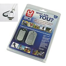 UTAG Bikers Digital Data Dog Tag Life Saver/Emergency