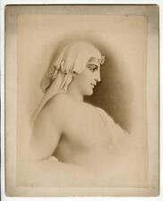 1880s Albumen Print, Cleopatra, Queen of Egypt After a Rendering Photograph