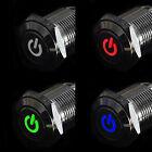 16mm 12V Car Silver Aluminum LED Power Push Button Schalter Latching Beliebt