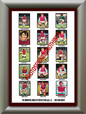 WEST HAM - 1971-72 - REPRO STICKERS A3 POSTER PRINT