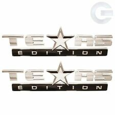 Pair of 2007-2014 OEM GMC Sierra and Chevy Silverado Texas Edition Emblems