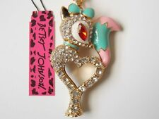 Betsey Johnson Necklace Fox with Heart Pendant