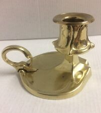 Art Nouveau Style Solid Cast Brass CHAMBER Candlestick CANDLE HOLDER Finger Loop