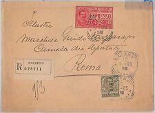 53961 - ITALIA REGNO - Storia Postale: BUSTA RACCOMANDATA ESPRESSO da SALERNO