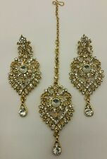 New Indian bollywood tikka and Earrings in LCT/GOLD set
