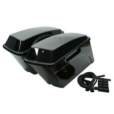 Black Hard Saddlebags Saddle Bag For Harley Electra Glide Ultra Classic FLHTCU