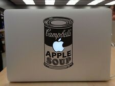 "Campbell's Soup Can Vinyl Decal Sticker Apple Macbook 13"" 15"" 17"" Mac"