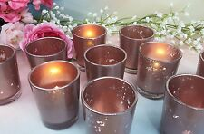 Votive Candle Holders Rose Gold Mercury Glass Party / Weddings  Decor /  12 per