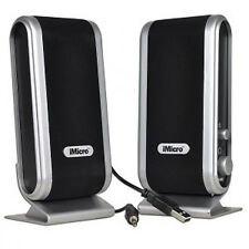 iMicro 2 Channel USB 2.0 Multimedia Computer Speakers System w/Headphone Jack