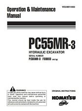 KOMATSU PC55MR-3 OPERATORS MANUAL ON CD *FREE POSTAGE*