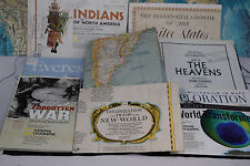 Vintage Lot Everest New World Maps Star Chart Arctic Floor N. American Indians