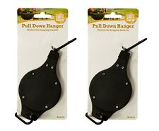 2 x Hanging Basket Pull Down Hanger Retractable Pulley Garden Baskets Plant Pots