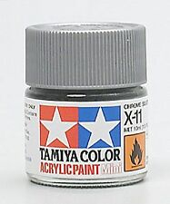 Tamiya Mini Acrylic Chrome Silver X-11 Paint 1/3 oz