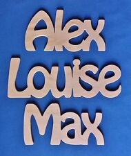 Personalised Wooden Name Plaque Word Letters Wall Door Art Craft Sign Novelty