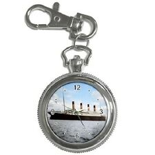 RMS TITANIC WHITE STAR LINE COLOUR SHIP KEYCHAIN WATCH **GREAT GIFT ITEM**