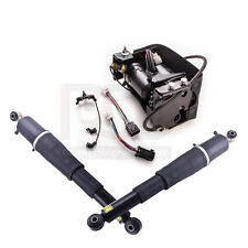 For Escalade Suburban Tahoe Yukon -- Pair Air Suspension shocks+Compressor Pump