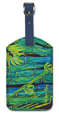 Leatherette Vintage Hawaiian Art Luggage Tag - Bamboo Forest by Rachael Ray