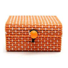 Wholesale Bamboo Wooden Jewelry Organizer Storage Box Strap Craft Case VV