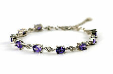 925 Sterling Silver Bracelet With Amethyst