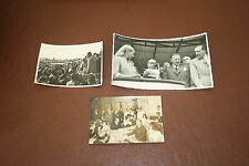 Evita  EVA PERON  and husband  3 historical original photographs   ARGENTINA b
