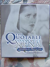 THE QUOTABLE XENA - WARRIOR PRINCESS FOLDER / BINDER Costume Card C14 Promo + P3