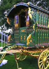 Print  Romany Gypsy decorative Caravan Ledge Wagon Appleby Horse Fair + 2 cards
