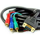 20M VGA SVGA TO 3 RCA YPbPr COMPONENT MALE CABLE LEAD