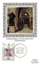 19 AUGUST 1986 COMMONWEALTH CONFERENCE BENHAM SILK FIRST DAY POSTCARD SHS