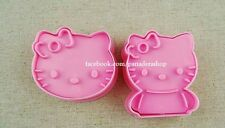 Hello Kitty Cookie Fondant Gum Paste Cutter Plunger  Set