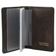 Visconti Tuscany 40 Secure RFID Blocking Genuine Leather Wallet (Brown)