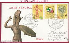 ITALIA FDC ROMA ARTE ETRUSCA ESPOSIZIONE MONDIALE FILATELIA 1984 ROMA FIL. Y685